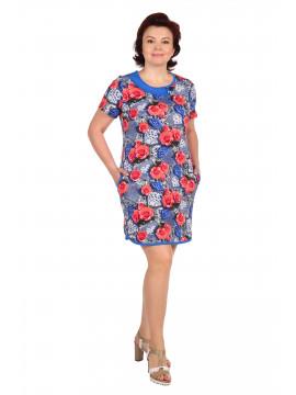 Платье женское кулирка 2.98 василек