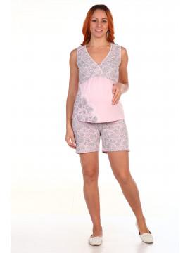 Пижама для беременных и кормящих кулирка 8.05 розовый