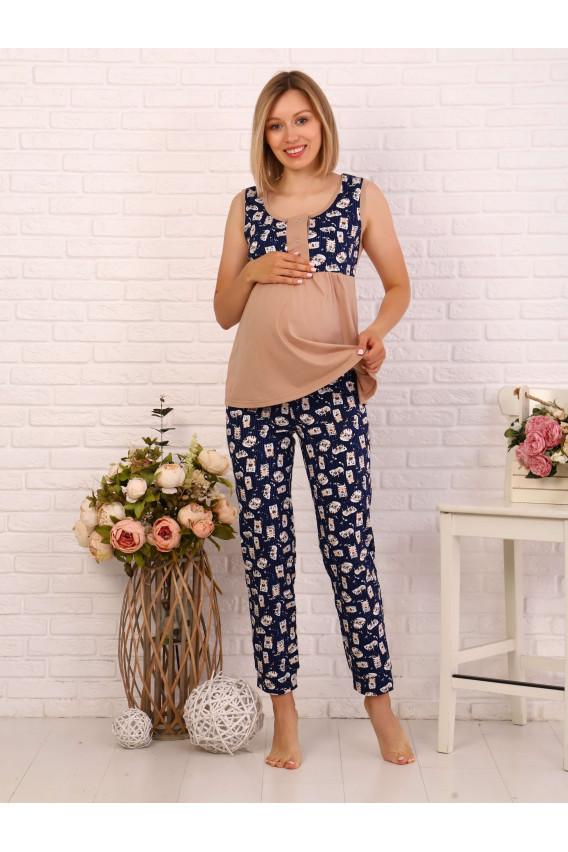 Комплект для беременных и кормящих 8.114 коричневый