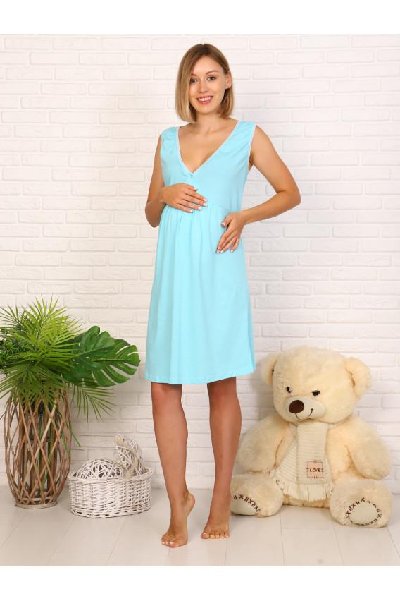 Комплект для беременных и кормящих 8.74 серо синий